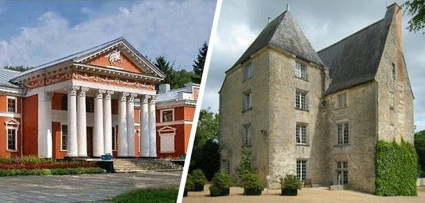 The manor of Verhivnia (Ukraine) and the castle of Saché (France)